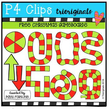 FREE Christmas Game Boards (P4 Clips Trioriginals Digital