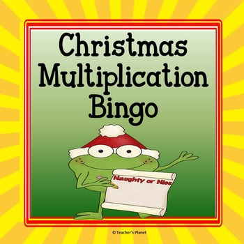 FREE Christmas Multiplication Bingo!