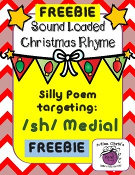 FREE Christmas Sound Loaded Rhyme for SPEECH Therapy -Sill