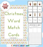 FREE Christmas Word Match Activity from Clever Classroom -