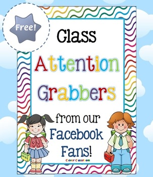 FREE Class Attention Grabbers from our Facebook Fans - 2 pages