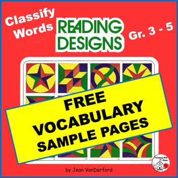 FREE ... VOCABULARY ... FREEBIE Geometric Designs ... NO P