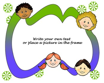 FREE Classmates Frame - Original Clips, Fun Art, Digital Clipart