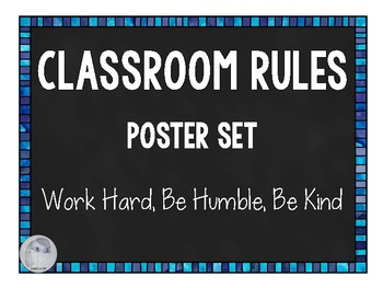FREE Classroom Rules Poster Set