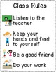 FREE Classroom Rules, Posters, and Anchor Charts for Speci