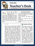 FREE Classroom Tips & Ideas Newsletter - Issue 1
