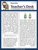 FREE Classroom Tips & Ideas Newsletter - Issue 4