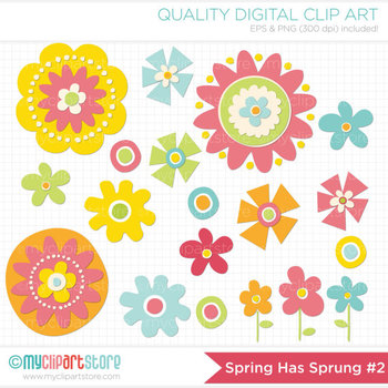 FREE Clipart  - Spring has Sprung Flowers / Floral