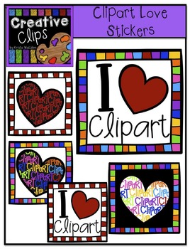 FREE Clipart Love Stickers {Creative Clips Digital Clipart}