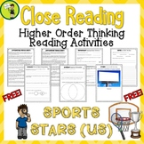 FREE Sports Stars (US) Close Reading Comprehension Text /
