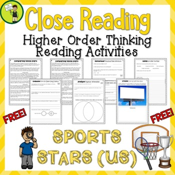 Free Close Reading Passages Higher Order Thinking Question