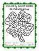 FREE Color by Sight Word Clover St. Patrick's Day Language