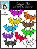 (FREE) Colorful Bats Clip Art Set