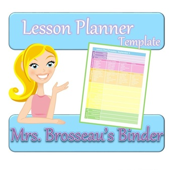 FREE Colorful Lesson Planner Template