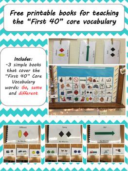 "FREE Core Vocabulary ""First 40"" Books"