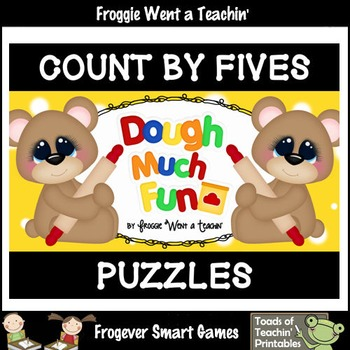 "Count by Fives--Number Sequencing Puzzles to 120 ""Dough Much Fun"""