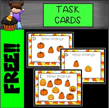 FREE Count the Pumpkins Task Cards