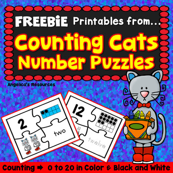 FREEBIE  Counting and Cardinality: Counting Cats Puzzle