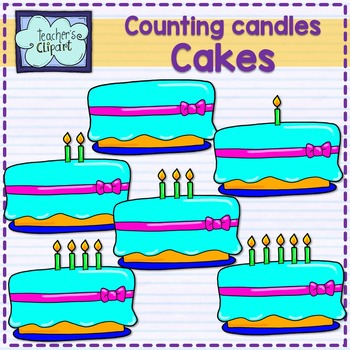 FREE Counting and Adding {Cake with candles 0 - 5 clip art}