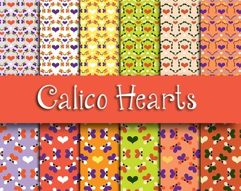 FREE: Country Style Hearts Pattern Sheets - 300 DPI, 12pp