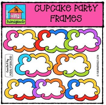 FREE Cupcake Party Frames {P4 Clips Trioriginals Digital C
