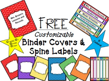 FREE Editable Binder Covers by Brooke Brown - Teach Outside the ...