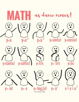 FREE DANCE MOVES (as graphs) PRINTABLE!