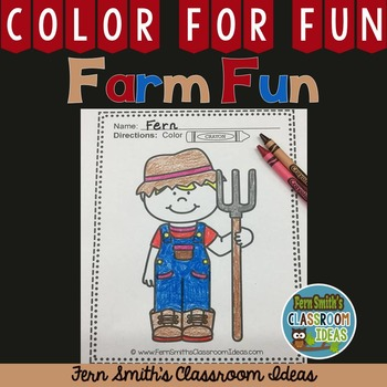 Coloring Page for the Farm FREE