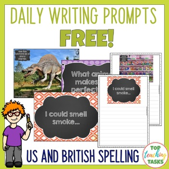FREE Daily Writing Prompts - PowerPoint, Journal and Works