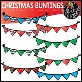 ~FREE~ December Buntings Clip Art Bundle {Educlips Clipart}