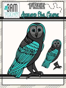 FREE Decorated Custom Owl Graphics / Clip Art
