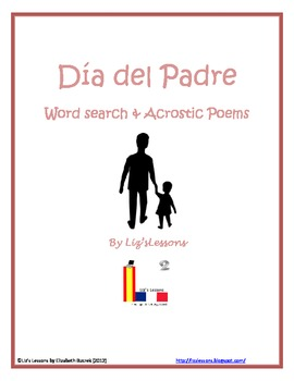 FREE! Dia del Padre Word Search & Acrostic Poem Templates