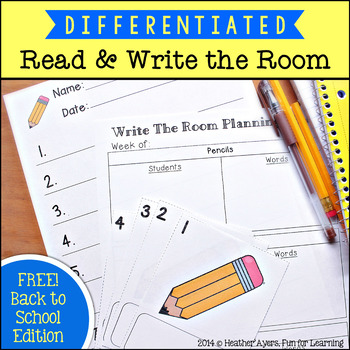 Read & Write the Room {Back to School Edition}