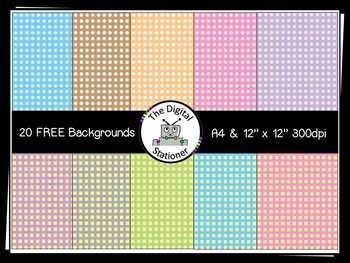 FREE Digital Paper [Backgrounds] DOTS & SQUARES - A4 and 1
