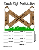 FREE Double Digit Multiplication Fence Visual