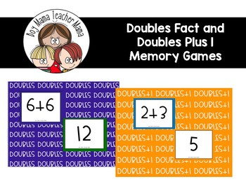 FREE Doubles Facts and Doubles Plus 1 Fact Memory Game Cards