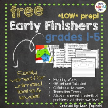 FREE Early Finishers and Gifted