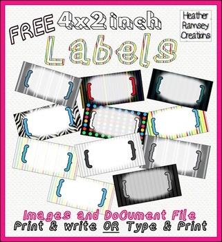 FREE EDITABLE Organizational Classroom Labels Stripes & Brackets
