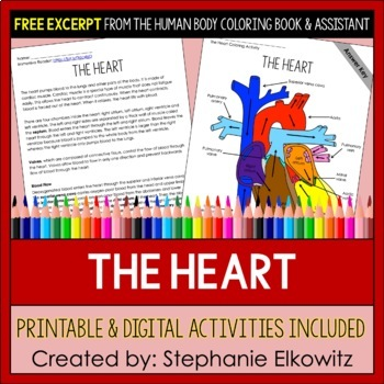Human Heart Coloring and Science Literacy Activities