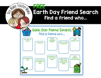 FREE Earth Day Friend Search