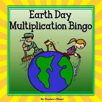 FREE Multiplication Game- Earth Day Multiplication Bingo!
