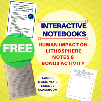 FREE  Earth & Environmental Sci Interactive Notebook Human