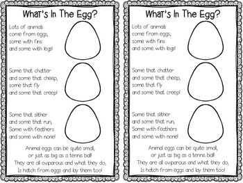 FREE Easter Activity - What's In The Egg? {Interactive Poem!}