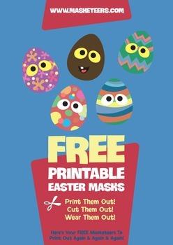 FREE Easter Egg Masks