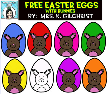 FREE Easter Spring Bunny Eggs Clip Art Set