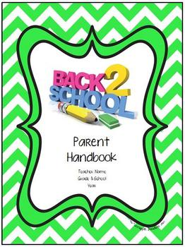 FREE Editable Back to School Parent Handbook