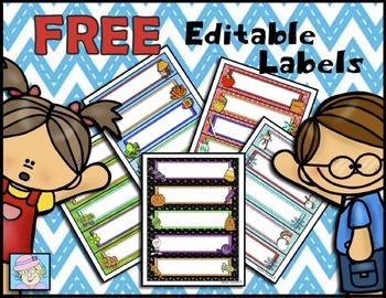 FREE! Editable Labels