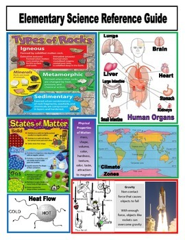 FREE Elementary Science Reference Guide