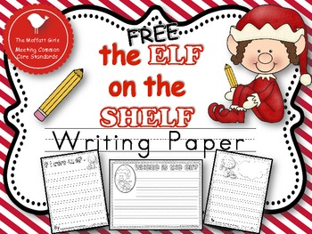 FREE Elf on the Shelf Writing Paper Pack!