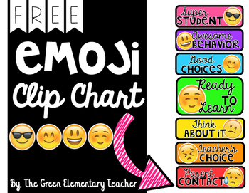 FREE Emoji Behavior Clip Chart